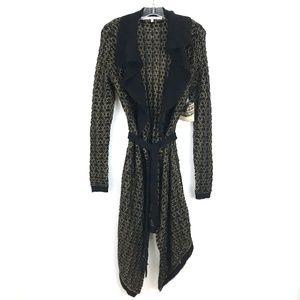 Rachel Roy long cardigan Boudior sweater belted